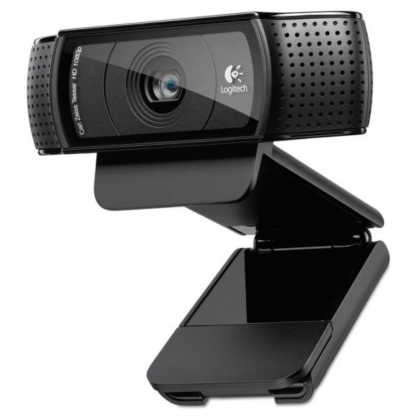 Logitech C920 HD Pro Webcam, 1080p, Black