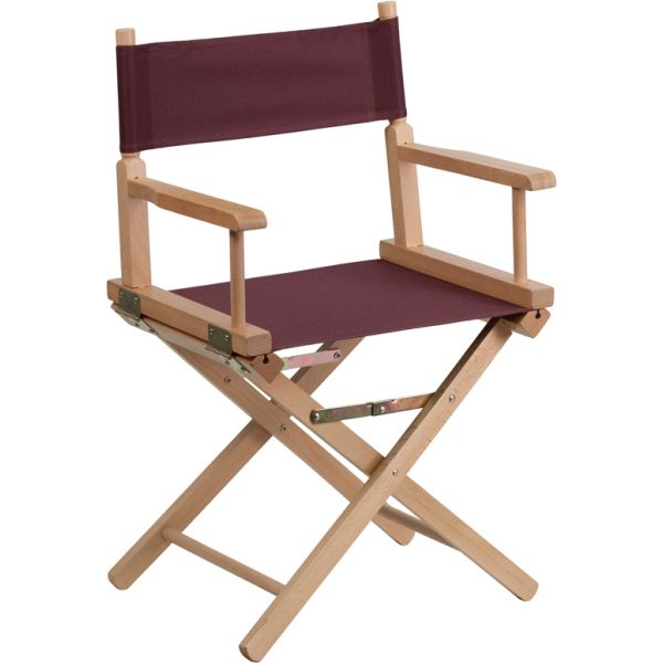 Flash Furniture Standard Height Directors Chair in Brown