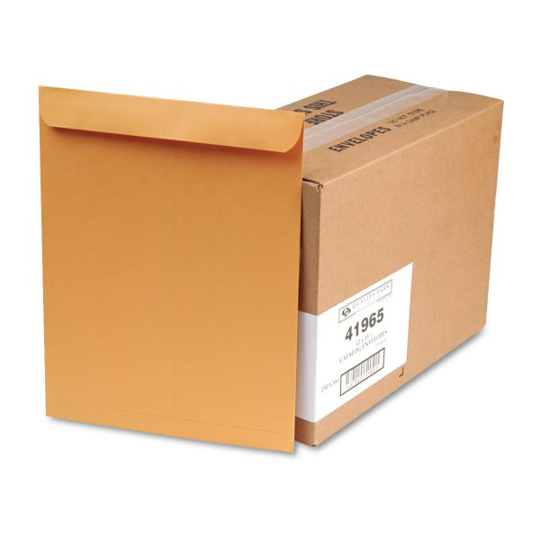 Quality Park Catalog Envelope, 12 x 15 1/2, Brown Kraft, 250/Box