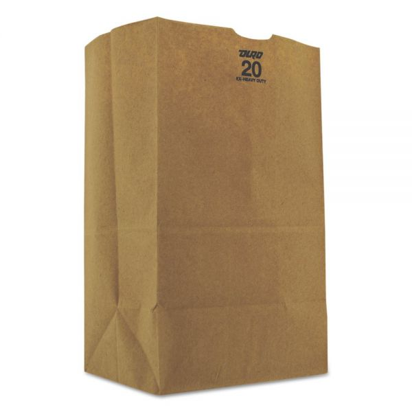 General 20# Brown Paper Grocery Bags