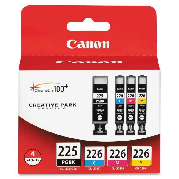 Canon PGI-225BK Black/CLI-226 Color Ink Cartridge Combo Pack