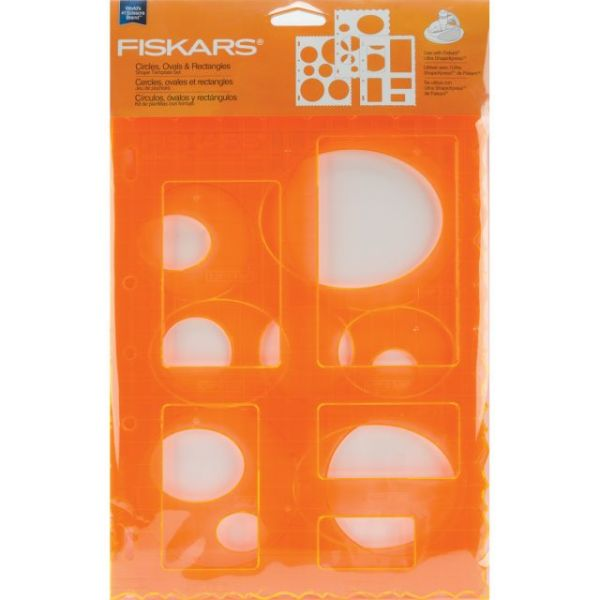 "Shape Template Set 8.5""X11"" 3/Pkg"
