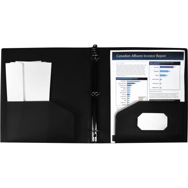 Storex Poly Binder with Pockets