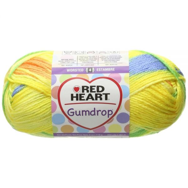 Red Heart Gumdrop Yarn - Lemon