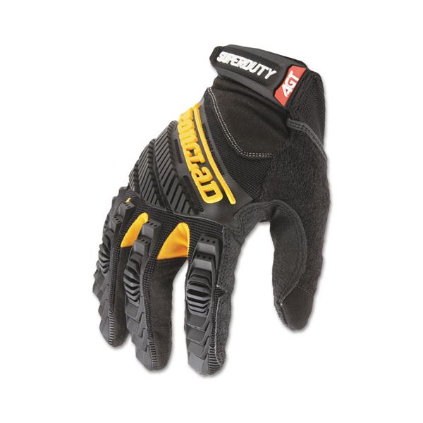 Ironclad SuperDuty Gloves, Large, Black/Yellow, 1 Pair