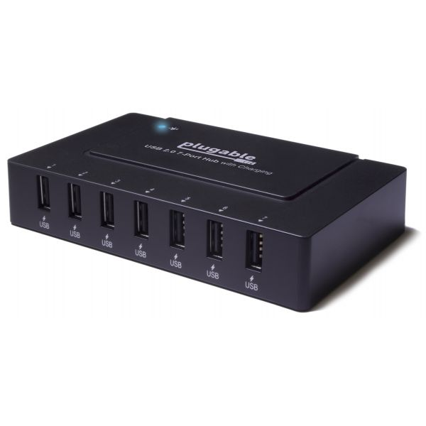 Plugable USB 2.0 7-Port Hub with 60W Power Adapter