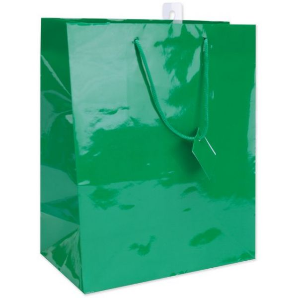 "Solid Gift Bags 10.5""X12.5"" 4/Pkg"
