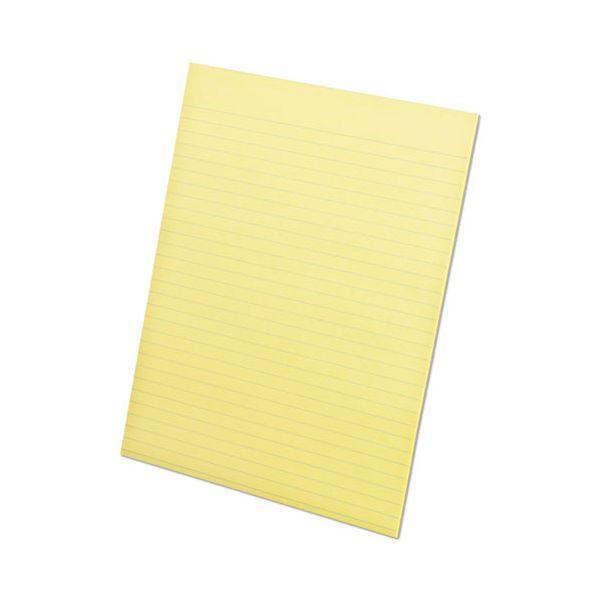 Ampad Glue Top Pads, 8 1/2 x 11, Canary, 50 Sheets, Dozen