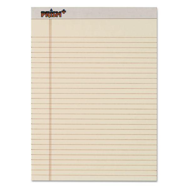 TOPS Prism Plus Colored Legal Pads, 8 1/2 x 11 3/4, Ivory, 50 Sheets, Dozen