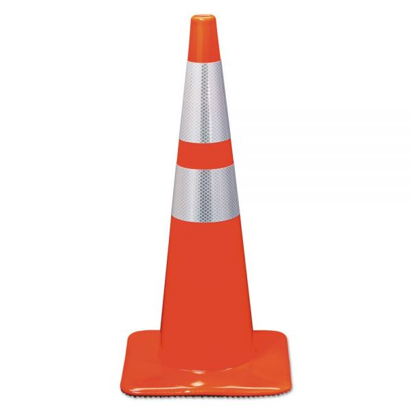 3M Reflective Safety Cone, 12 3/4 x 12 3/4 x 28, Orange