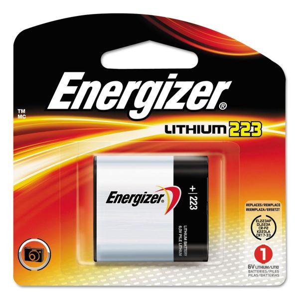 Energizer Lithium Photo Battery, 223, 6V