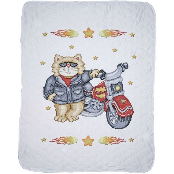 Born To Be Wild Baby Quilt Stamped Cross Stitch Kit