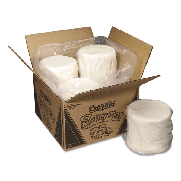Crayola Air-Dry Clay, White, 25 lbs