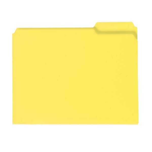 Smead Yellow Colored Poly File Folders
