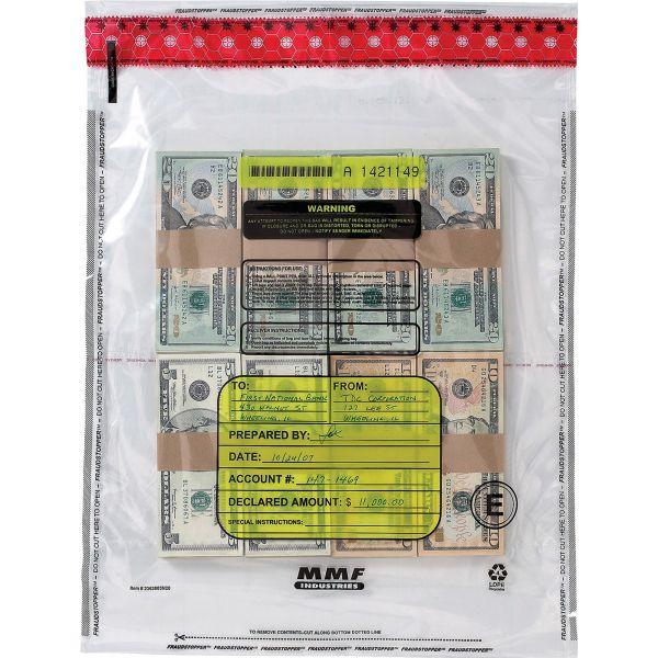 MMF Industries FraudStopper 12 Bundle Capacity Tamper-Evident Currency Bundle Bags