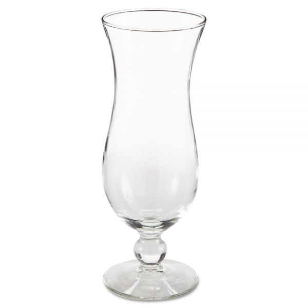 "Libbey Hurricane Footed Glasses, Cocktail, 14.5 oz, 8 1/4"" Tall"