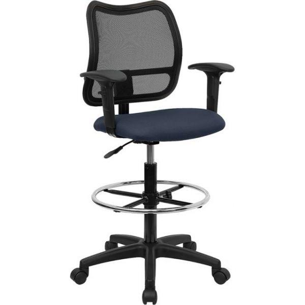 Flash Furniture Mid-Back Mesh Drafting Stool