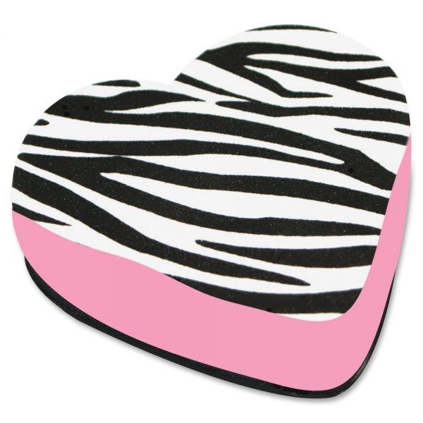 Ashley Zebra Heart Magnetic Whitebrd Eraser