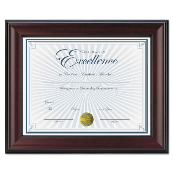 DAX Rosewood Document Frame, Wall-Mount, Plastic, 8 1/2 x 11