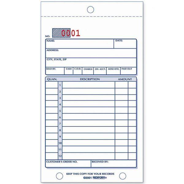 Rediform 3-Part Sales Book Form