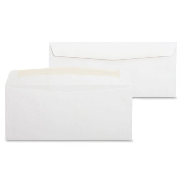 Business Source White Wove Side-Seam Business Envelopes