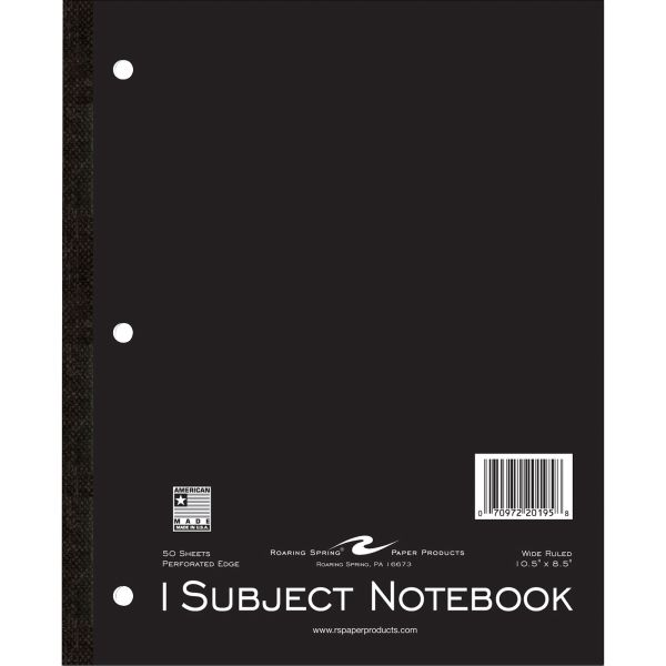 Roaring Spring 1-Subject Tapebound Notebooks