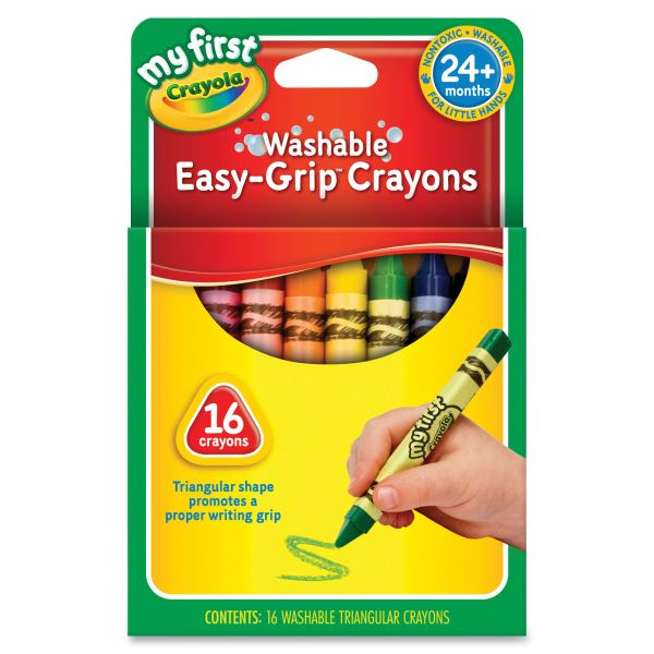 Crayola My First Washable Triangular Crayons