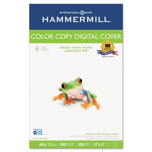 "Hammermill Color Copy Digital 11"" x 17"" Photo White Cover Stock"