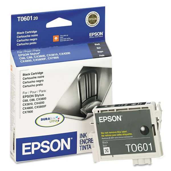 Epson T0601 Black Ink Cartridge (T060120)