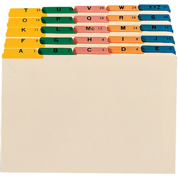 Smead Recycled Top Tab Alphabetic File Guides