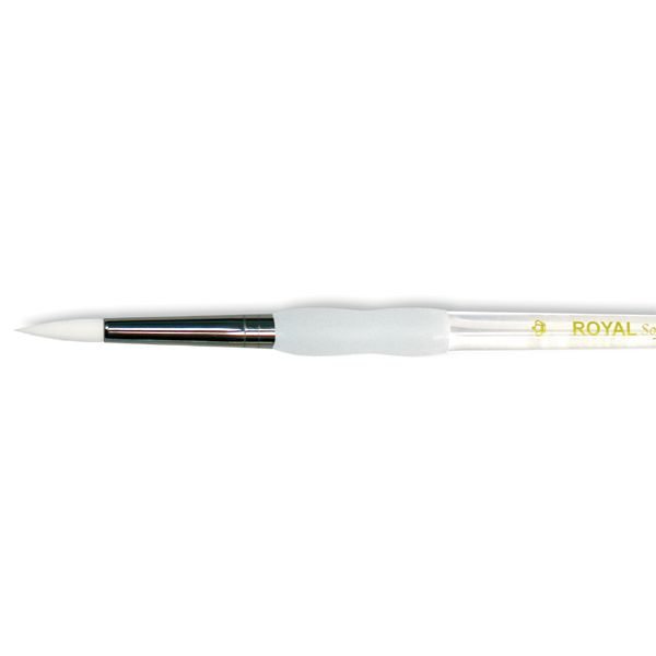 Soft-Grip White Taklon Round Brush