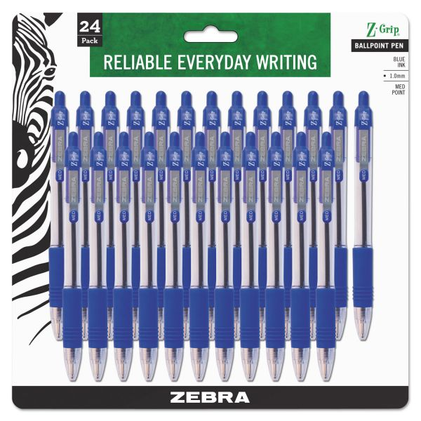 Zebra Z-Grip Retractable Ballpoint Pens