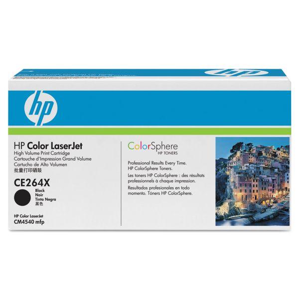 HP 646X Black High Yield Toner Cartridge (CE264X)
