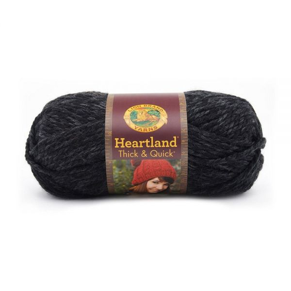 Lion Brand Heartland Thick & Quick Yarn - Black Canyon