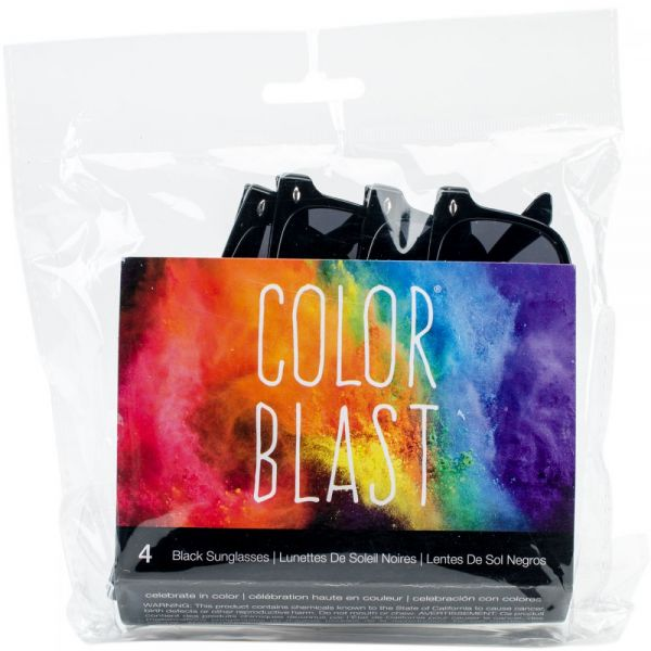 Color Blast Sunglasses 4/Pkg