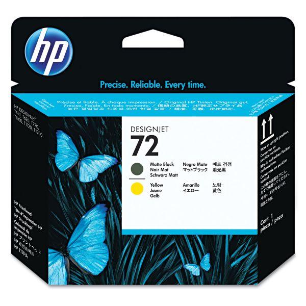 HP 72 Matte Black/Yellow Printhead (C9384A)