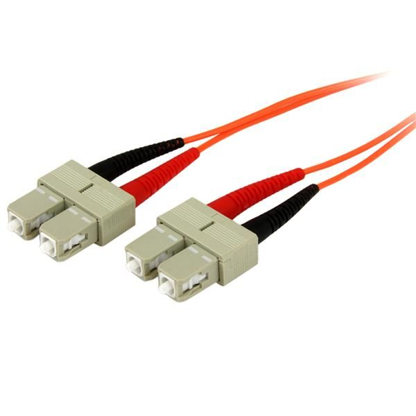 2m Fiber Optic Cable - Multimode Duplex 50/125 - OFNP Plenum - SC/SC - OM2 - SC to SC Fiber Patch Cable