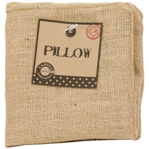 "Burlap Pillow Square 12""X12"""
