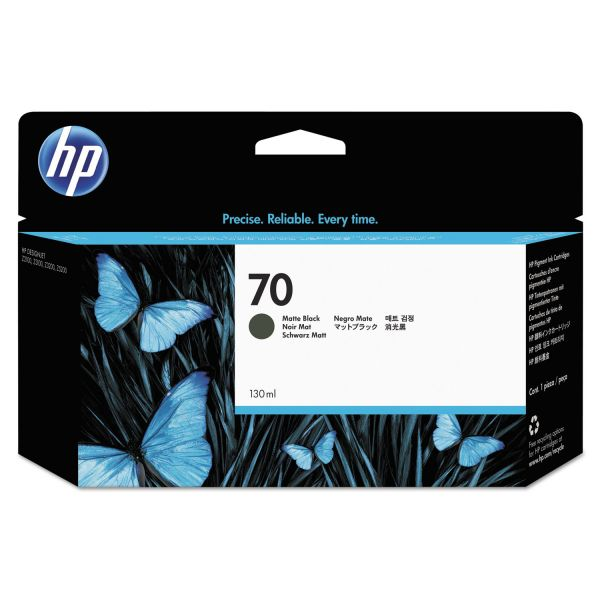 HP 70 Matte Black Ink Cartridge (C9448A)