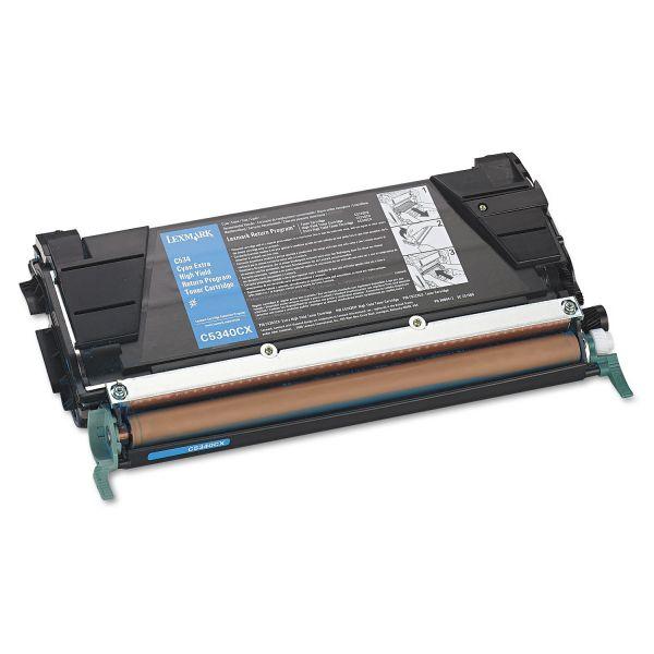 Lexmark C5340CX Cyan Extra High Yield Return Program Toner Cartridge
