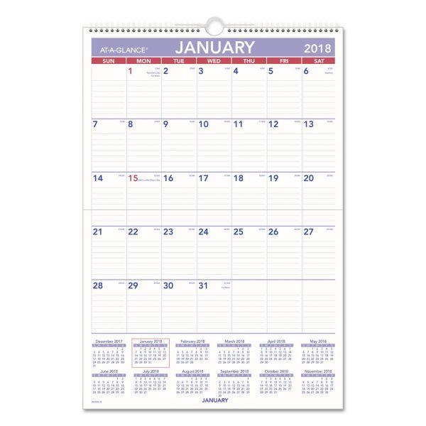 At-A-Glance Laminated Yearly Wall Calendar