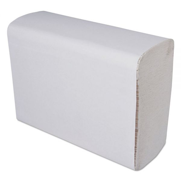 GEN Multi-Fold Paper Towels, 9 1/4 x 9 1/4, 1-Ply, White, 250 Sheets/Pack, 16 Packs/Carton