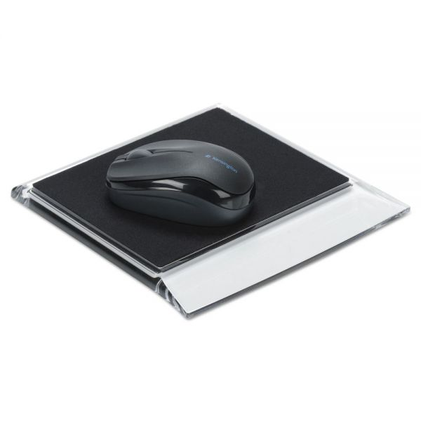 Swingline Stratus Acrylic Mouse Pad, Black/Clear