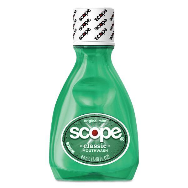 Scope Mouthwash, Original Mint, 1.5oz Bottle, 180/Carton