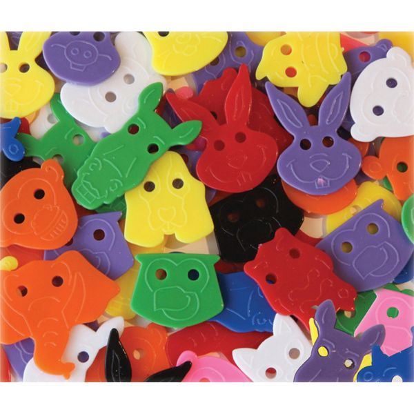 ChenilleKraft Delightful Animal Face Buttons