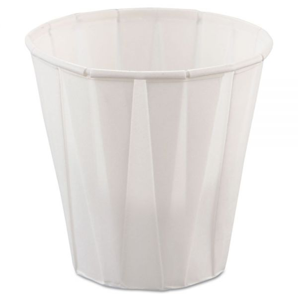 Dart Paper Medical & Dental Treated Cups, 3.5oz, White, 100/Bag, 50 Bags/Carton