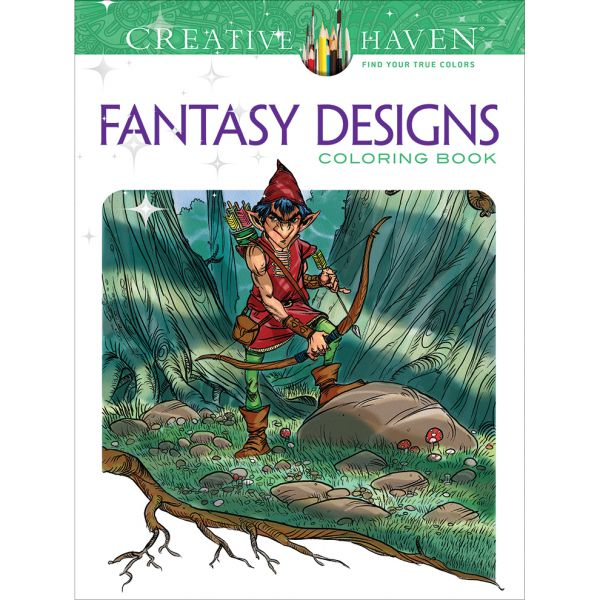 Dover Publications: Creative Haven Fantasy Designs Coloring Book