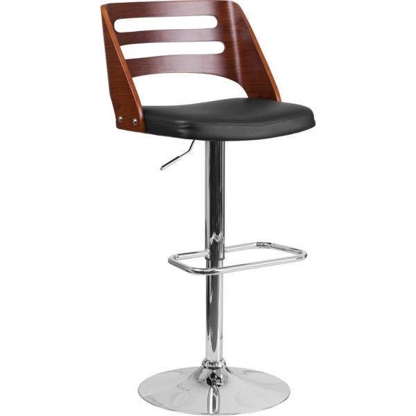 Flash Furniture Walnut Adjustable Height Stool