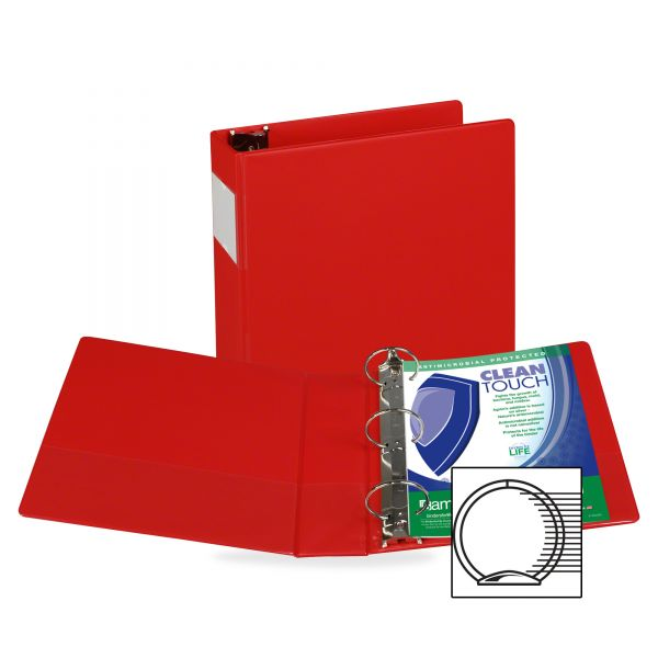 "Samsill Antimicrobial Locking 3"" 3-Ring Binder"