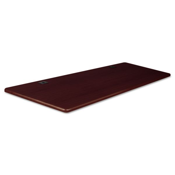 BALT Height-Adjustable Flipper Table Top, Rectangular, 72w x 24d, Mahogany
